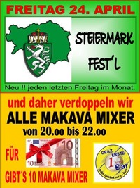 Steiermark Fest´l April@1 EURO BAR