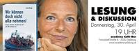 Wir können doch nicht alle nehmen - Lesung und Diskussion mit Livia Klingl