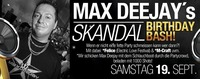 Max Deejays Skandal Birthday Party