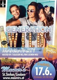 Generation WILD - Maturaparty 7.Klassen Bg/Brg Leoben neu