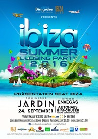 IBIZA Summer Closing PARTY feat. Dominique Jardin & Envegas hosted by Birngruber Krems