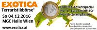 EXOTICA Terraristikbörse Adventspecial  Sonntag 4.12 10-16h MGC Halle - Nur 1 Euro Eintritt für Fans – Vorschau Haustiermesse Wi