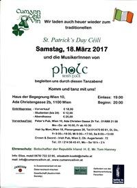 St. Patrick`s Day Céilí (Irisches Tanzfest)