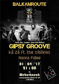 Balkanroute:Gipsy Groove,Hanna Palme,KaZa/TheSibling@Weberknecht
