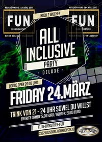 All Inclusive Party / Club Diskothek FUN