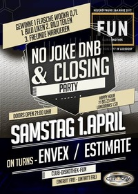 No joke dnb & closing party - Club Diskothek Fun