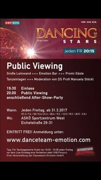 Public Viewing Dancing Stars