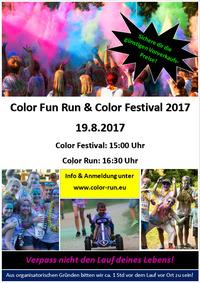 Color Fun Run & Color Festival 2017@Sportarena Russbach