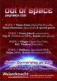 Out Of Space Psytrance Club // Do 27. Juli // Weberknecht