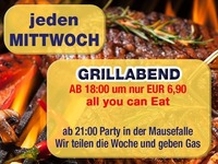Jeden Mittwoch – Grillabend – all you can eat