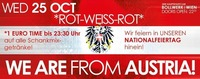 WE ARE from Austria Rotweissrot! 1 EURO Party!