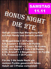Bonus Night  die 2te