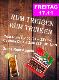 Rum Treiben Rum Trinken