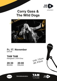 Bandsitter präsentiert: Corry Gass & The Wild Dogs WITH FRIENDS@TAM TAM