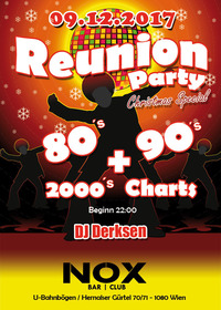 REUNION-PARTY 80's, 90's, 2000's + Charts  @Nox Bar