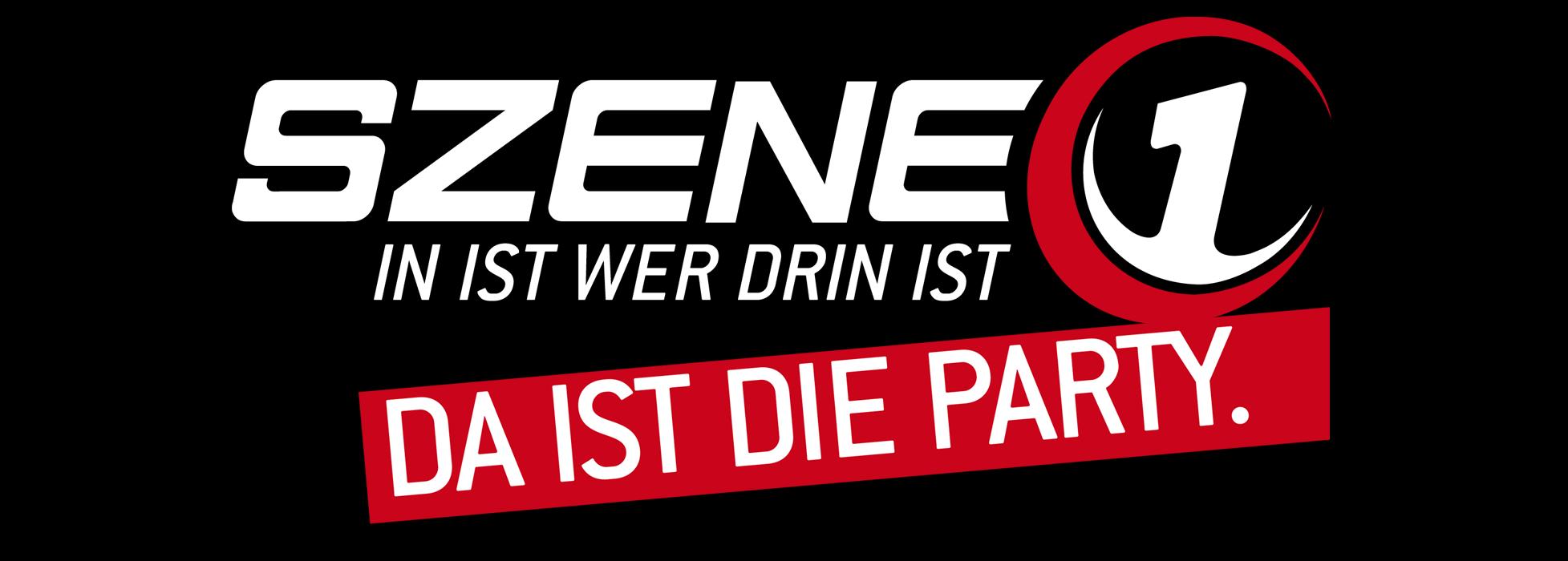 Szene1 Logo Schwarz mit Banner