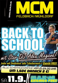 Back to School mit DJ Alex Megane!