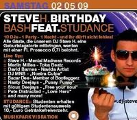 Steve H. Birthday Bash feat. Studance